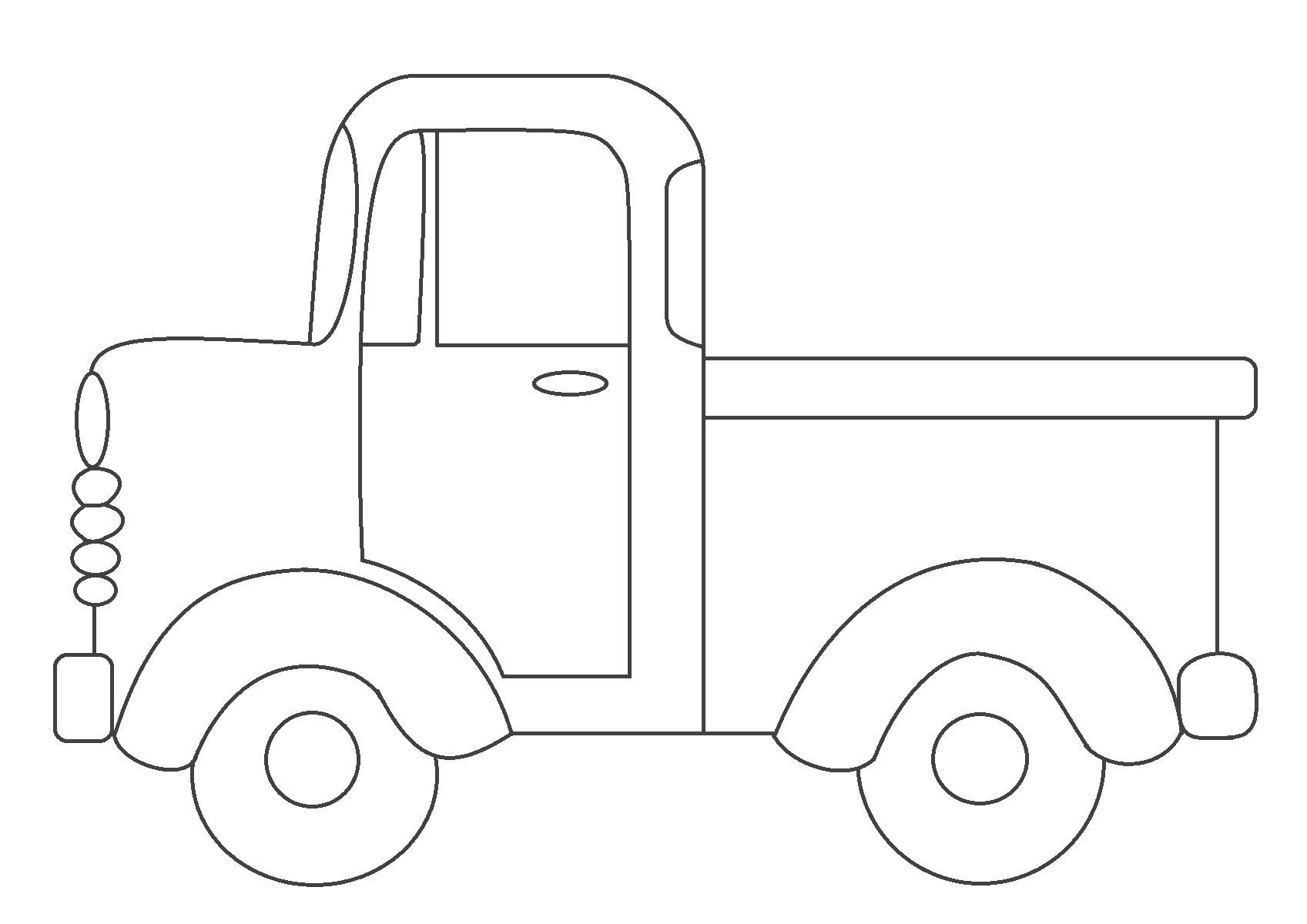 Tranh tô màu xe bán tải đơn giản