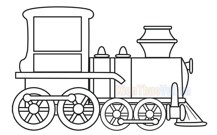 Tranh tô màu xe lửa