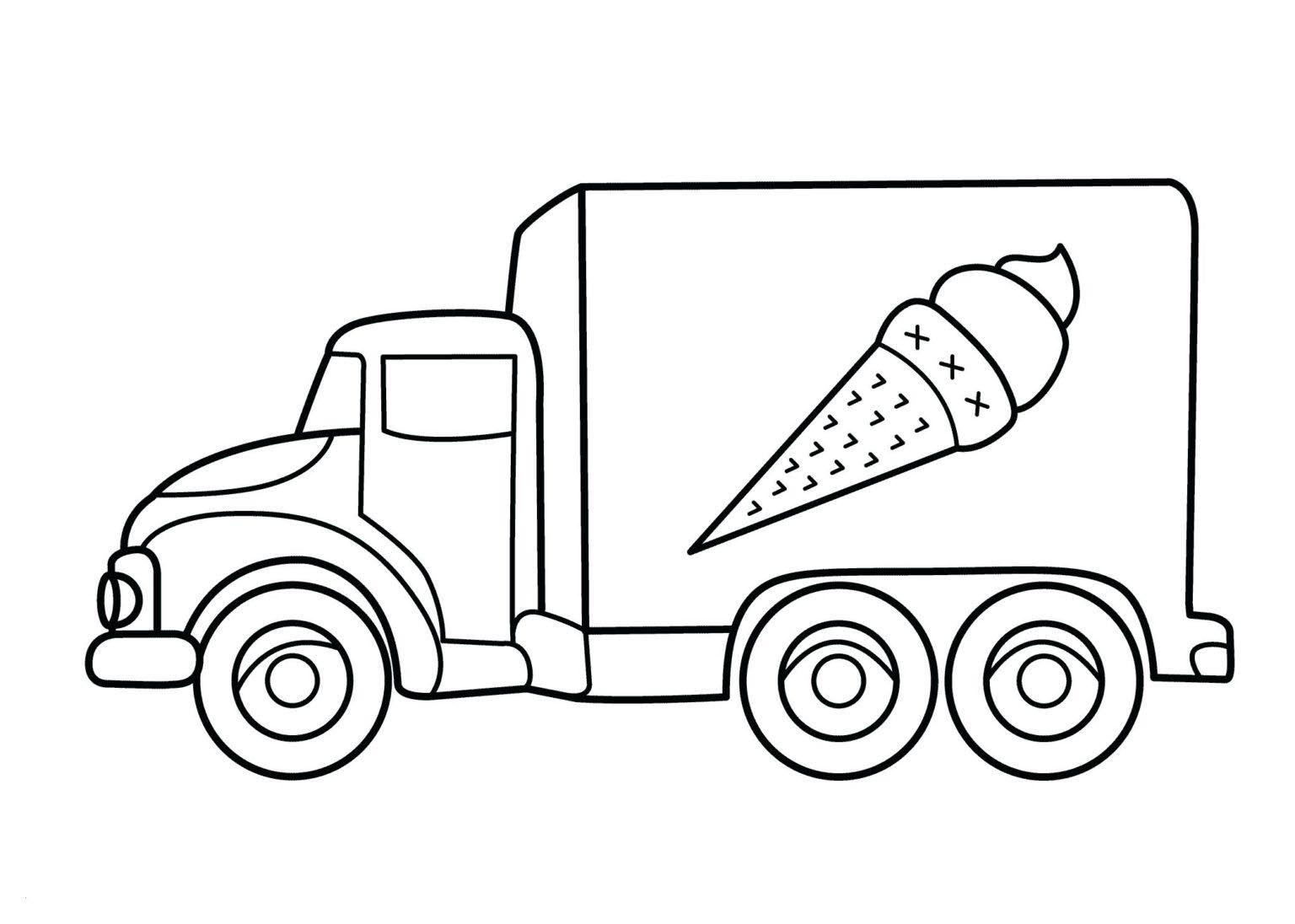 Tranh tô màu xe tải bán kem