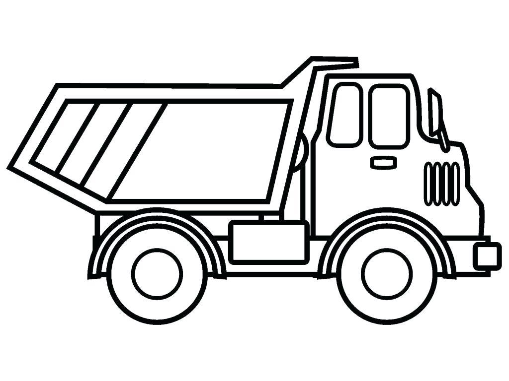 Tranh tô màu xe tải cho bé bắt đầu tập tô