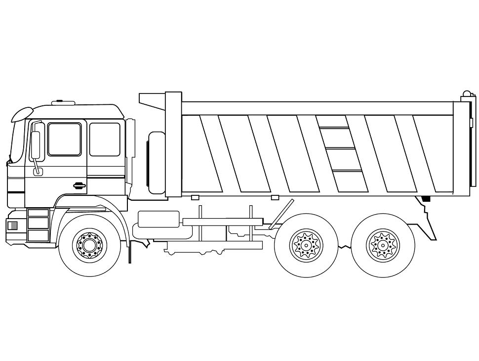 Tranh tô màu xe tải cho bé đẹp