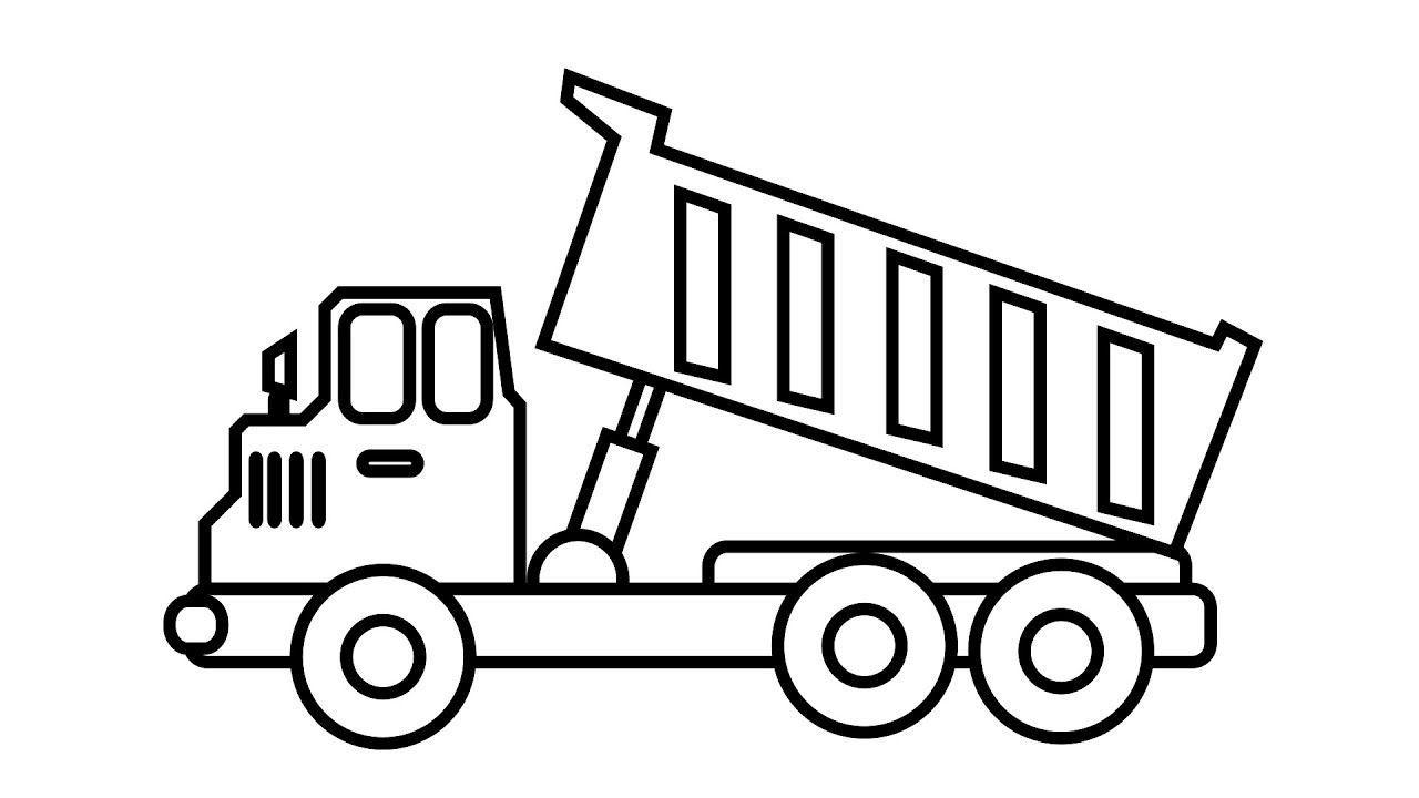 Tranh tô màu xe tải cho bé trai thích khám phá