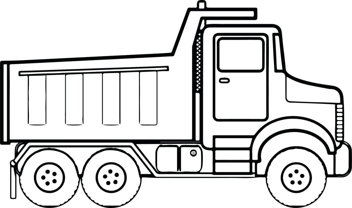 Tranh tô màu xe tải cho bé