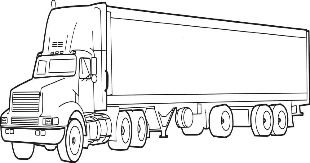 Tranh tô màu xe tải chở hàng