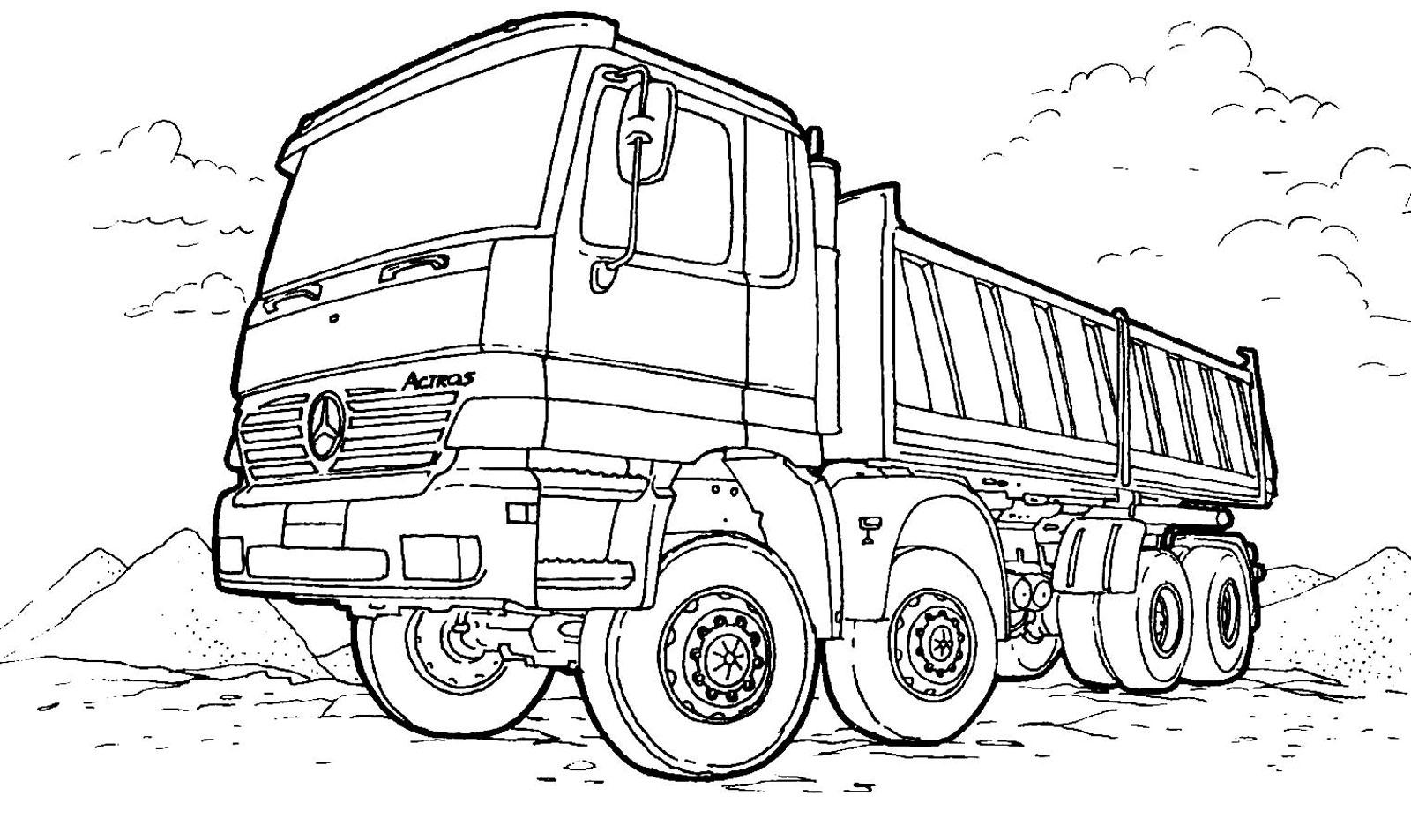 Tranh tô màu xe tải đẹp, ấn tượng nhất