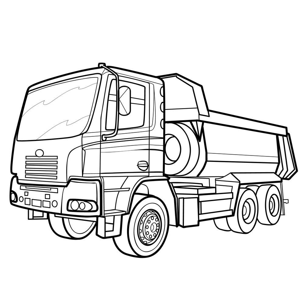 Tranh tô màu xe tải đẹp, hấp dẫn nhất