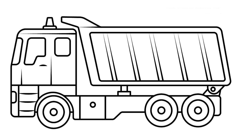 Tranh tô màu xe tải đẹp