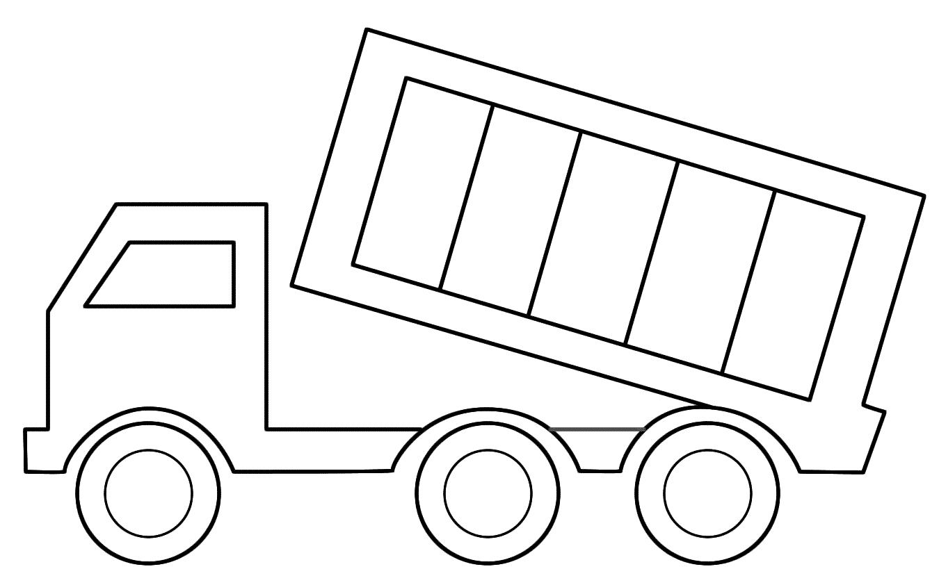 Tranh tô màu xe tải đơn giản