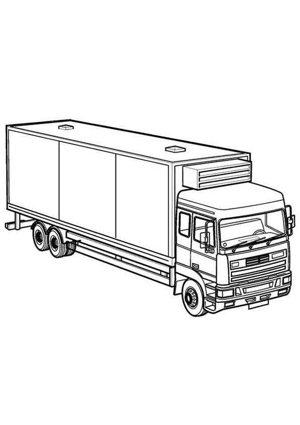 Tranh tô màu xe tải hạng nặng