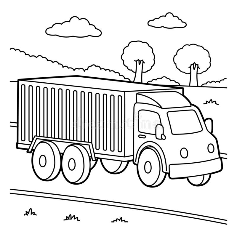 Tranh tô màu xe tải hạng trung