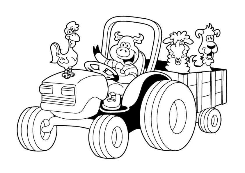Tranh tô màu xe tải hoạt hình