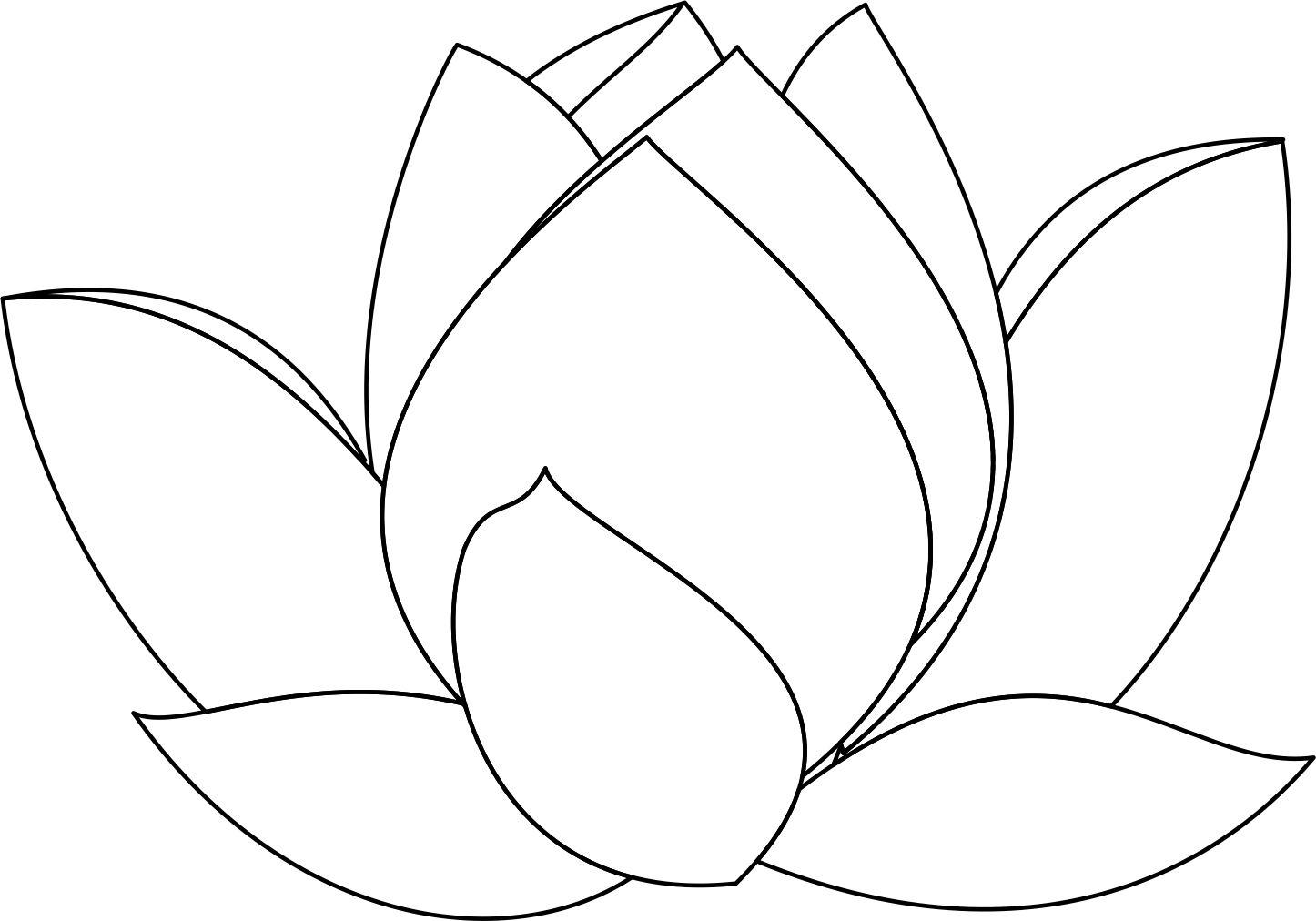 Hình hoa sen cho bé tập tô