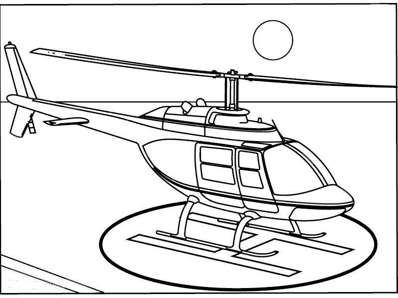 Hình máy bay trực thăng cho bé tập tô