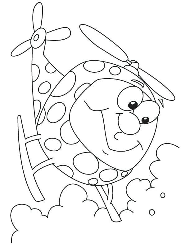 Hình máy bay trực thăng ngộ nghĩnh, đáng yêu