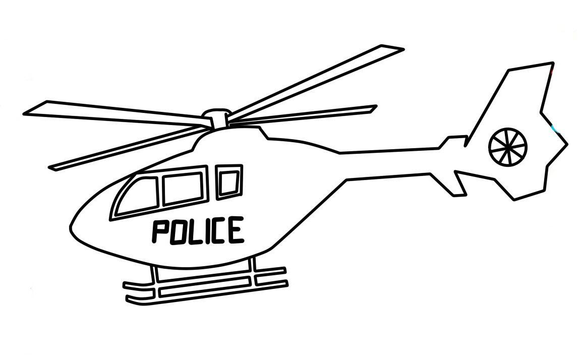 Hình tô màu máy bay trực thăng cảnh sát