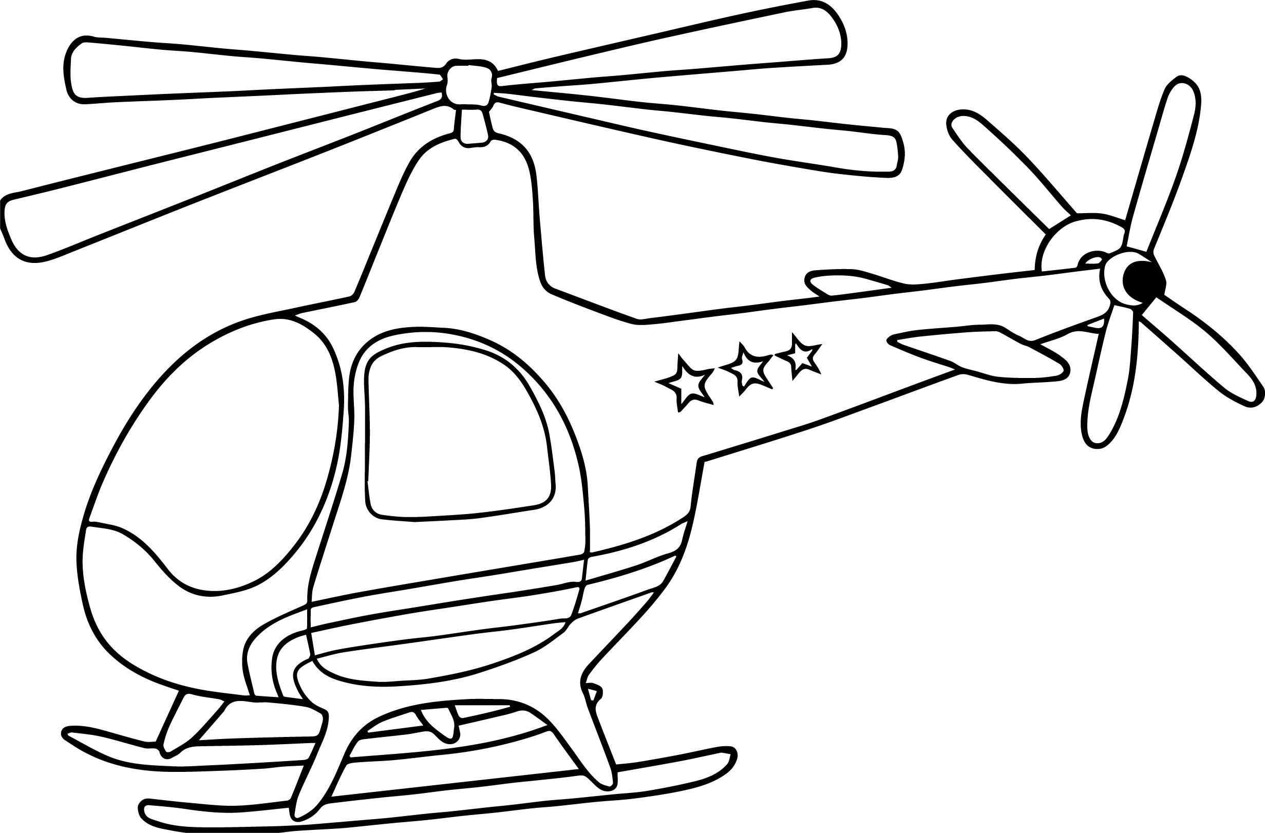 Hình tô màu máy bay trực thăng chất nhất