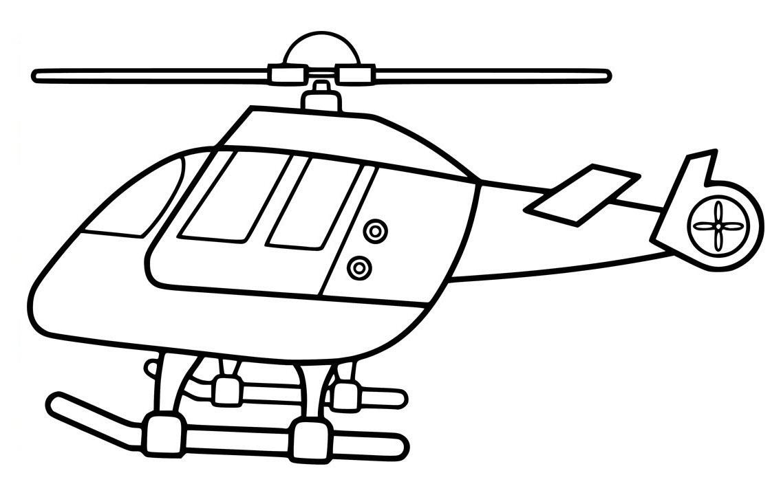 Hình tô màu máy bay trực thăng đẹp, dễ tô
