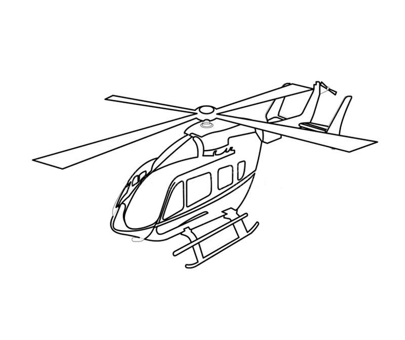 Hình tô màu máy bay trực thăng đẹp nhất