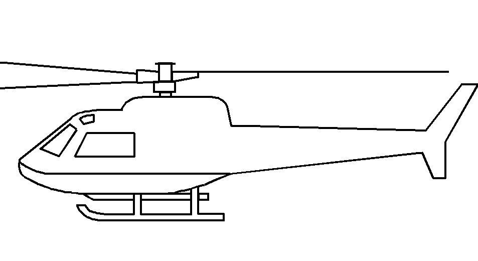 Hình tô màu máy bay trực thăng