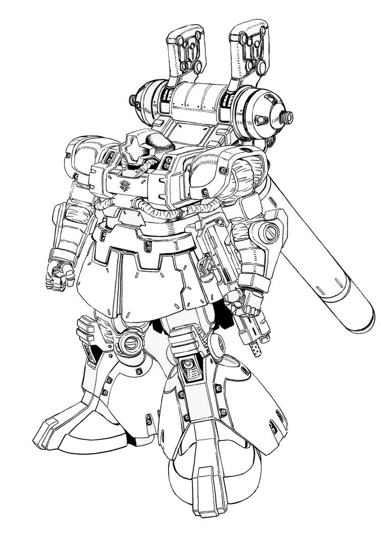 Hình tô màu Robot biến hình chất nhất