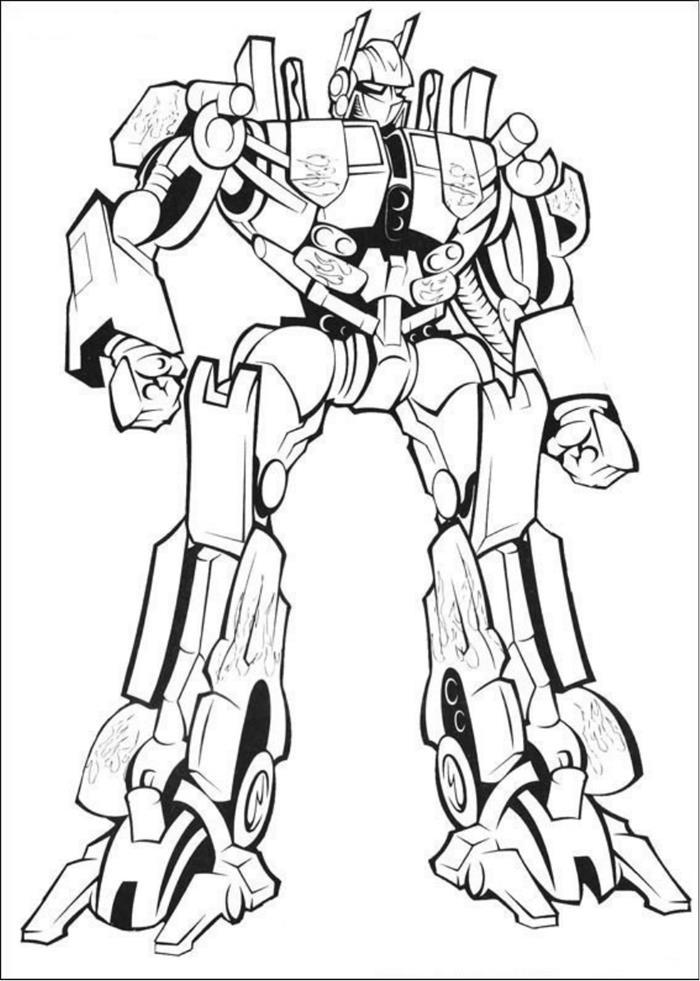 Hình tô màu Robot biến hình đẹp, ngầu