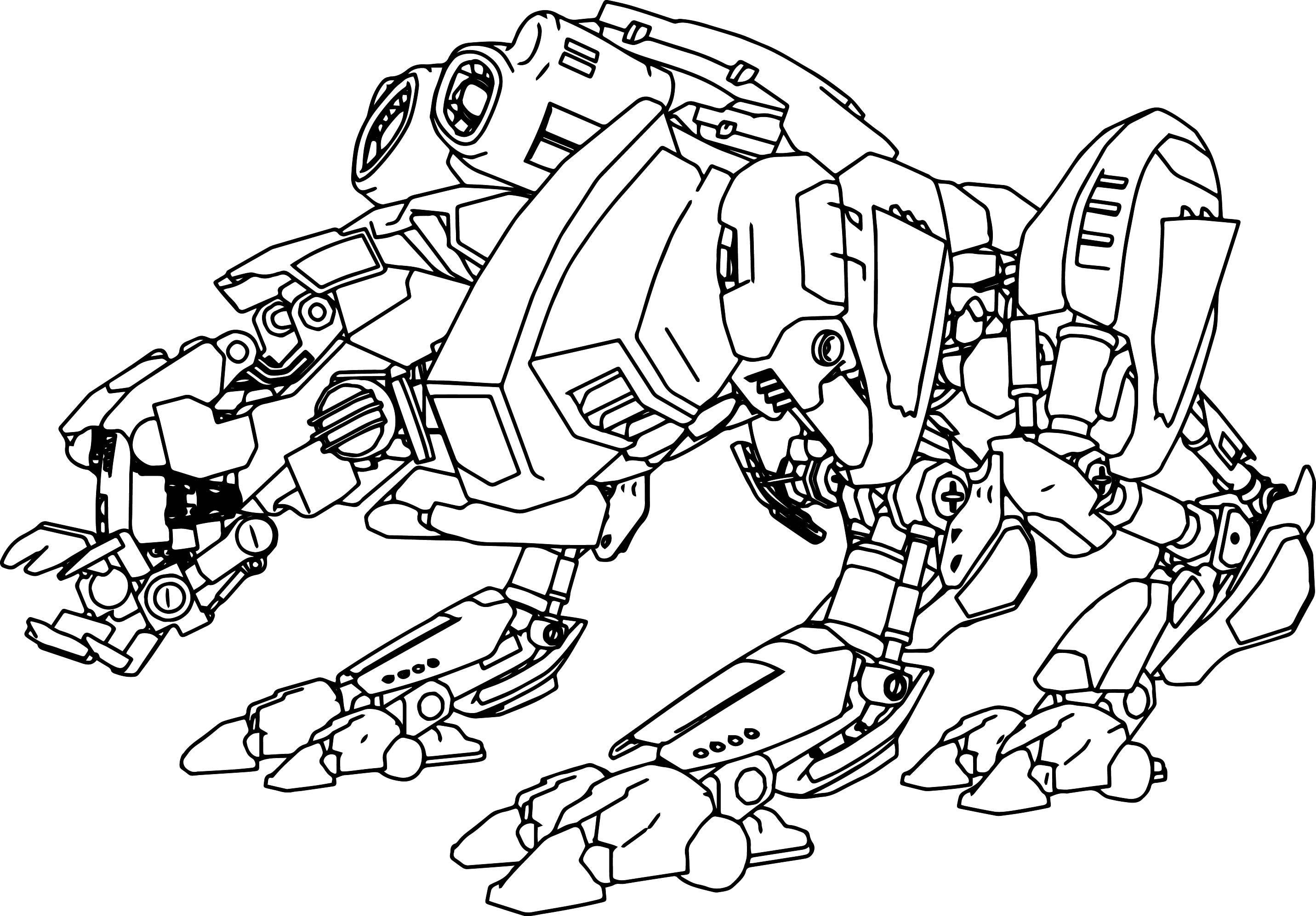 Hình tô màu Robot biến hình