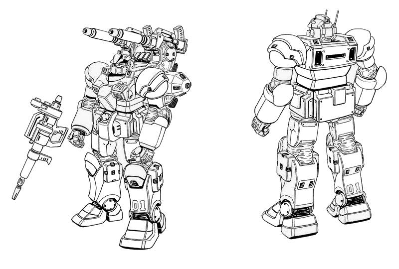 Hình tô màu Robot Gundam biến hình cho bé