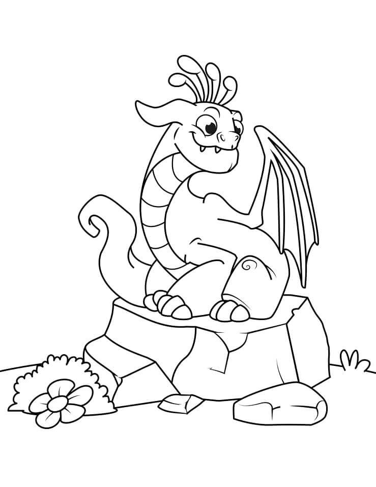 Tranh tô màu cho bé chủ đề con rồng
