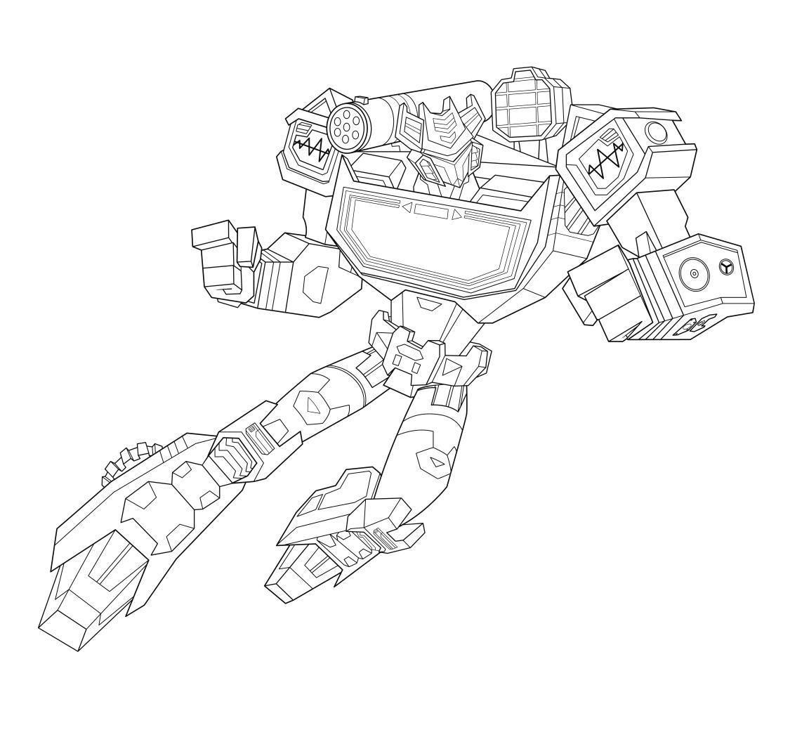 Tranh tô màu cho bé chủ đề Robot biến hình