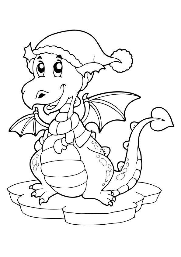 Tranh tô màu chủ đề con rồng cho bé
