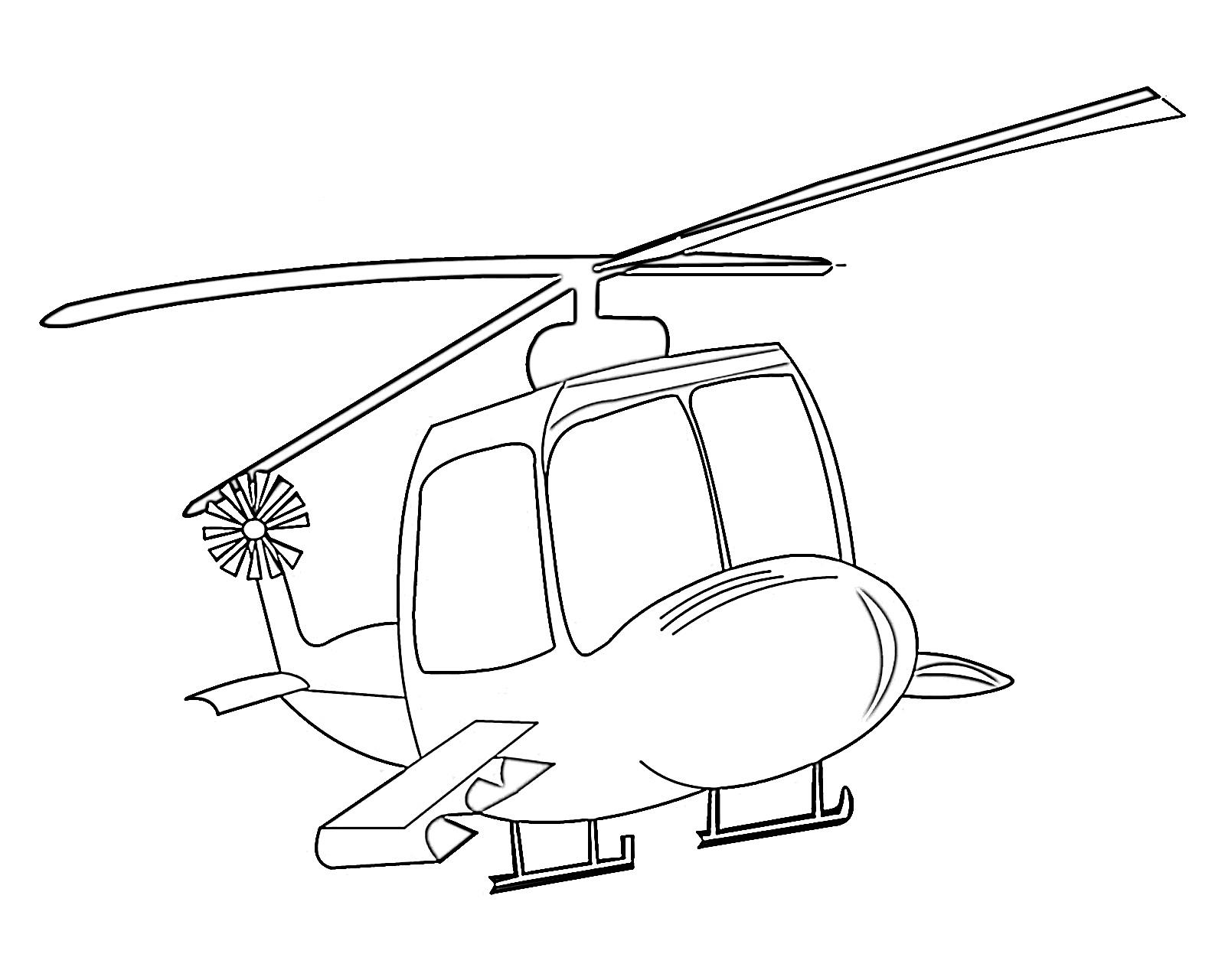 Tranh tô màu chủ đề máy bay trực thăng