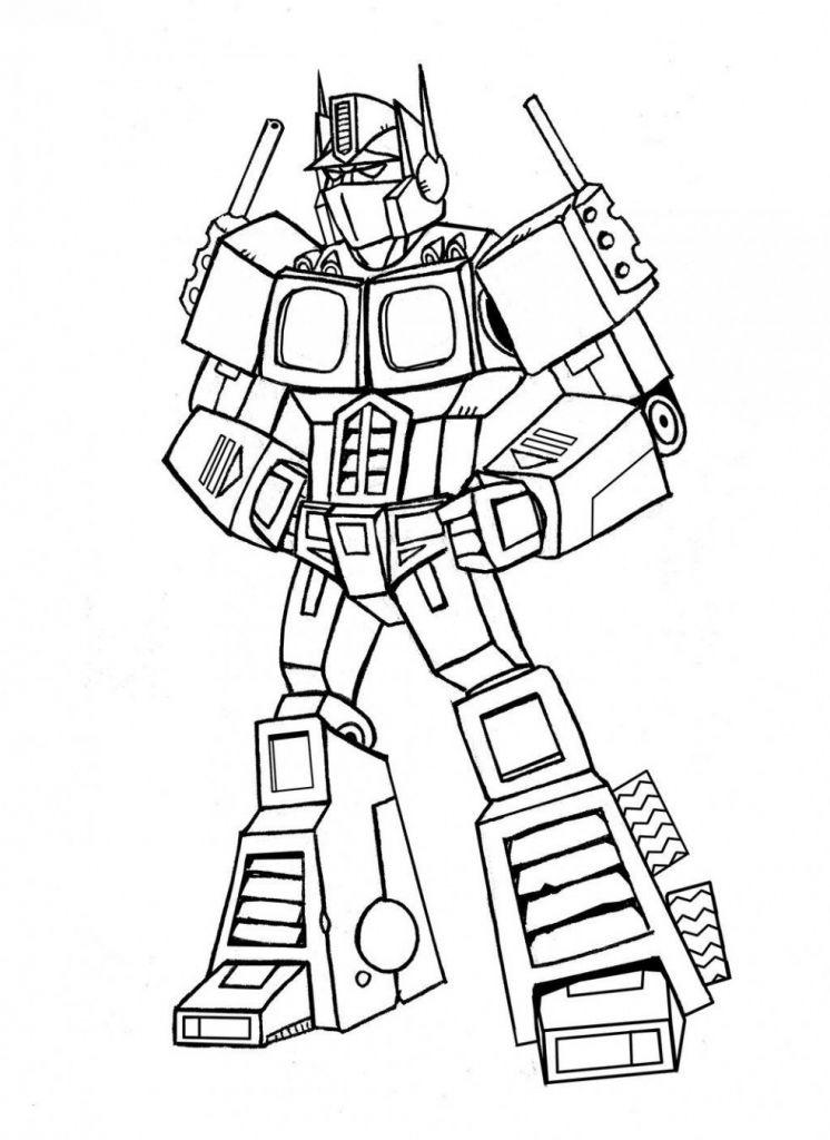 Tranh tô màu chủ đề Robot biến hình