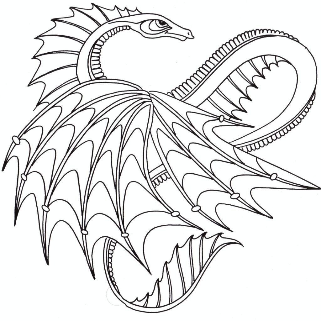 Tranh tô màu con rồng cực ngầu
