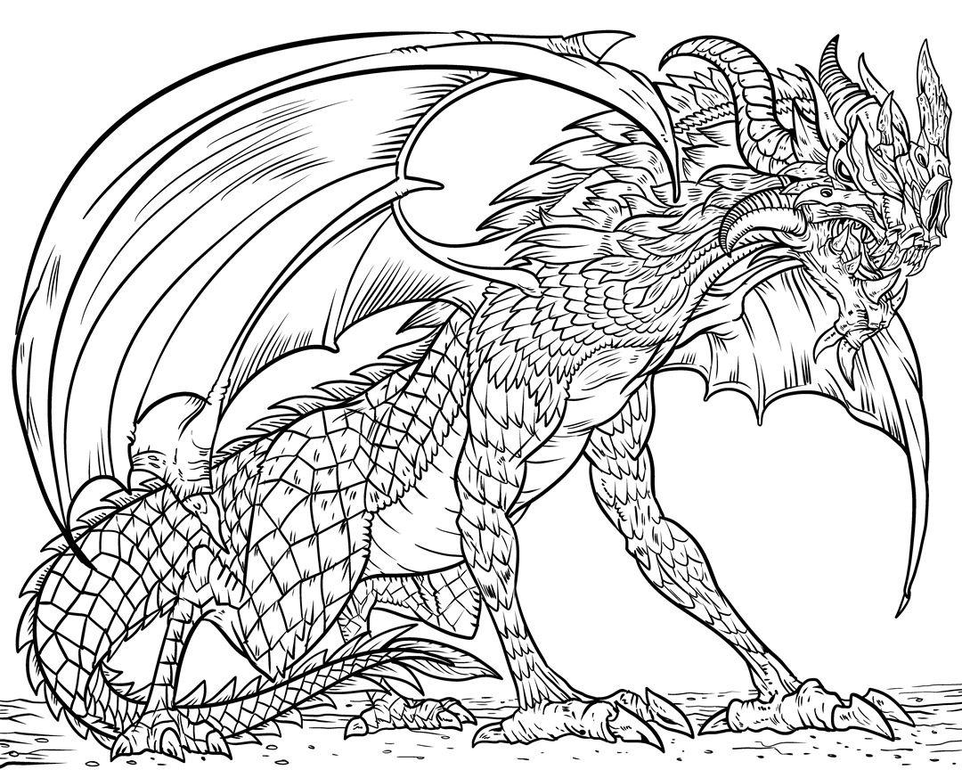 Tranh tô màu con rồng đẹp, sinh động