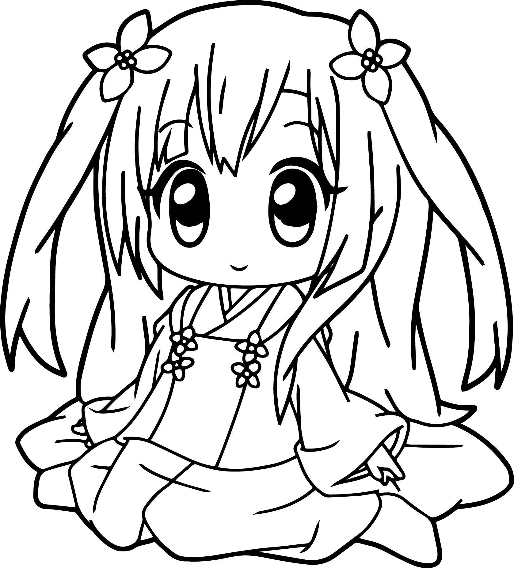 Tranh tô màu công chúa anime cute đẹp nhất