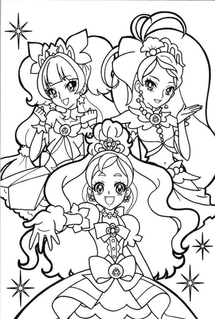 Tranh tô màu công chúa anime đẹp hấp dẫn nhất