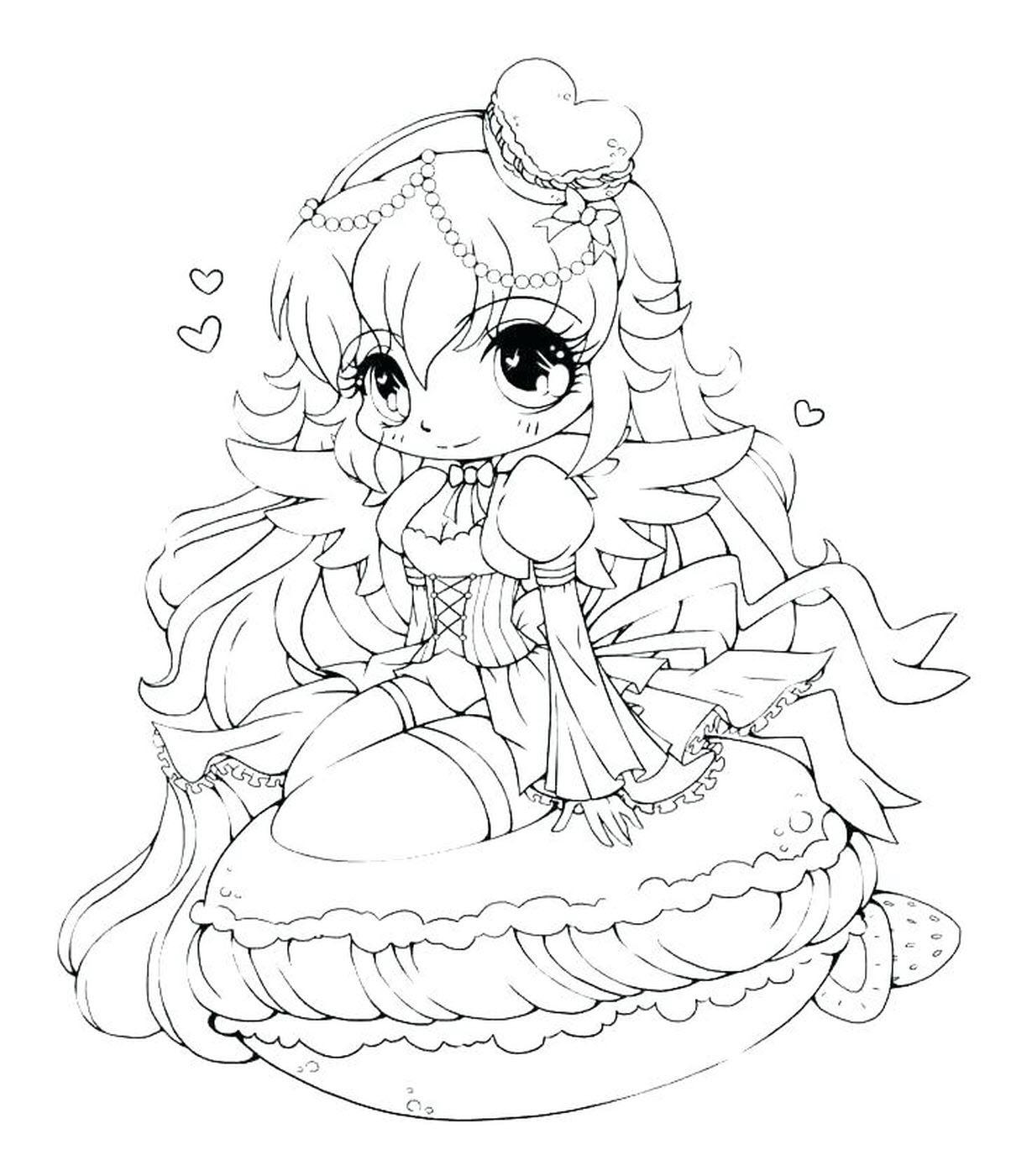 Tranh tô màu công chúa anime được yêu thích nhất