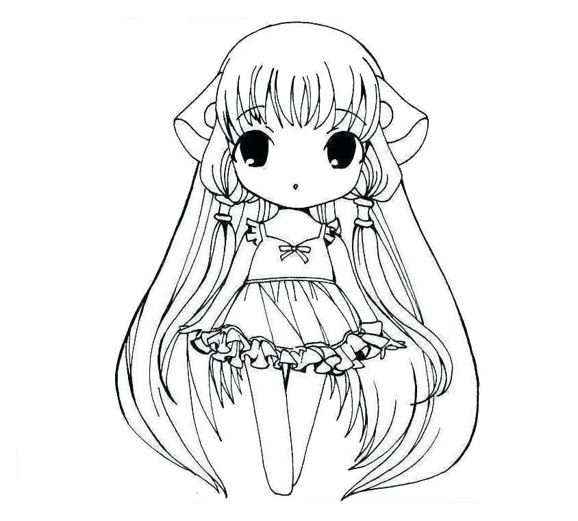 Tranh tô màu công chúa anime lúc nhỏ