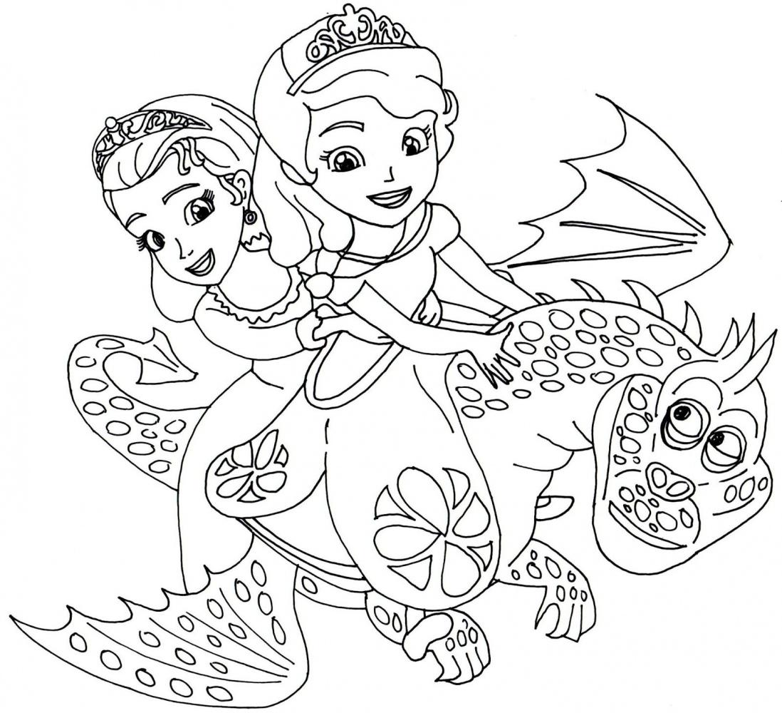 Tranh tô màu công chúa cưỡi rồng