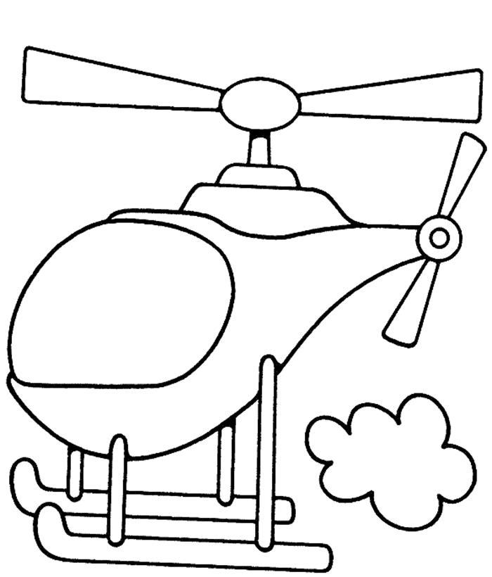 Tranh tô màu hình máy bay trực thăng