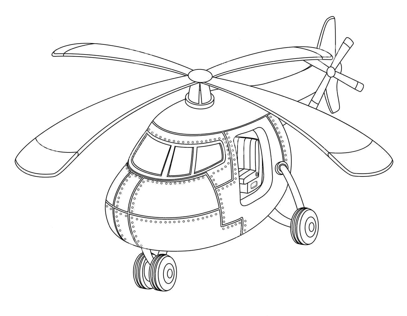 Tranh tô màu máy bay trực thăng chất, ngầu