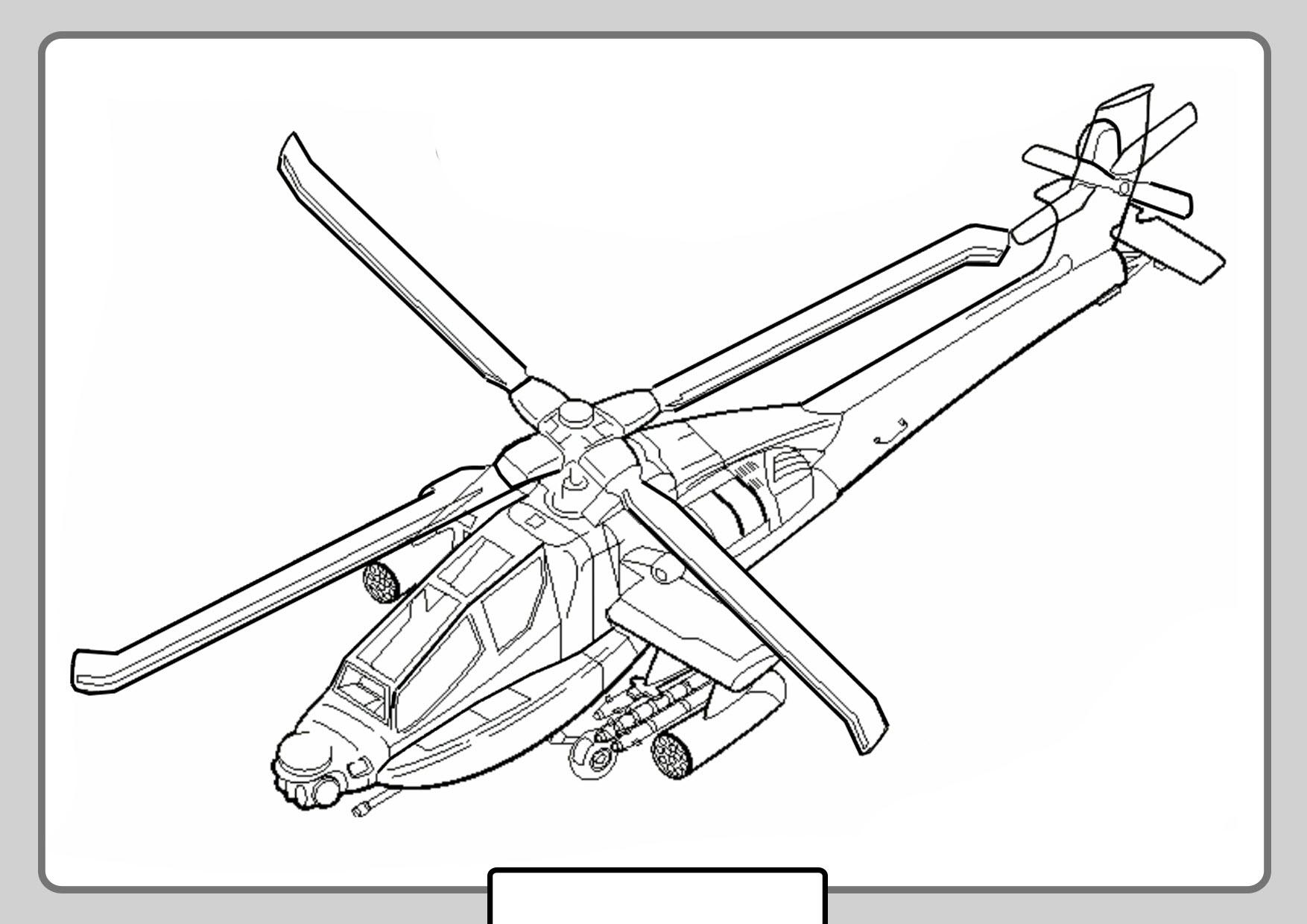 Tranh tô màu máy bay trực thăng cực ngầu