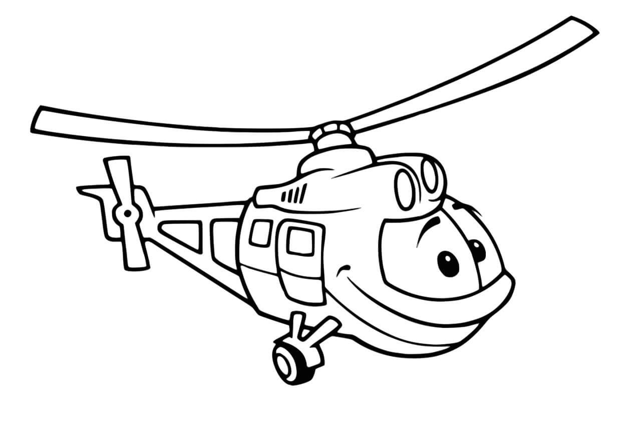 Tranh tô màu máy bay trực thăng đẹp, ngầu