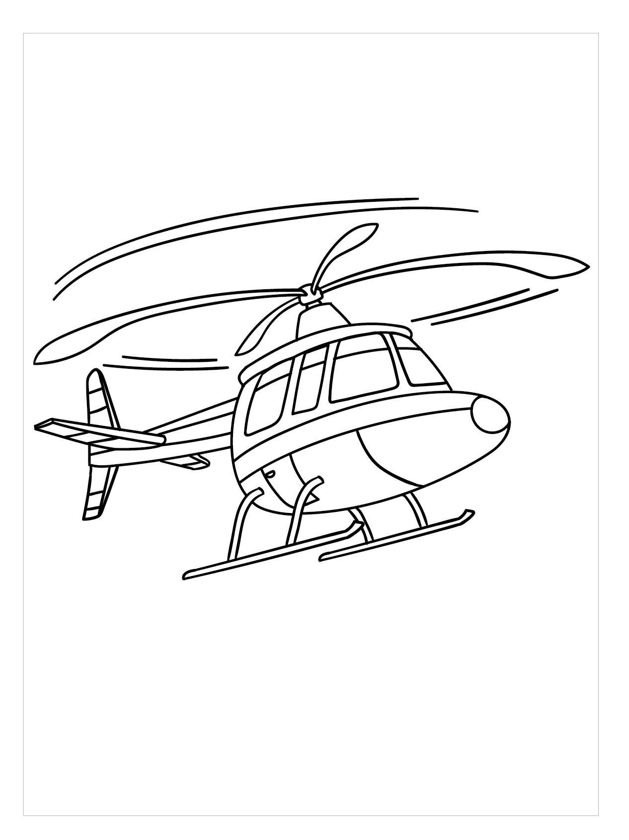 Tranh tô màu máy bay trực thăng đẹp nhất