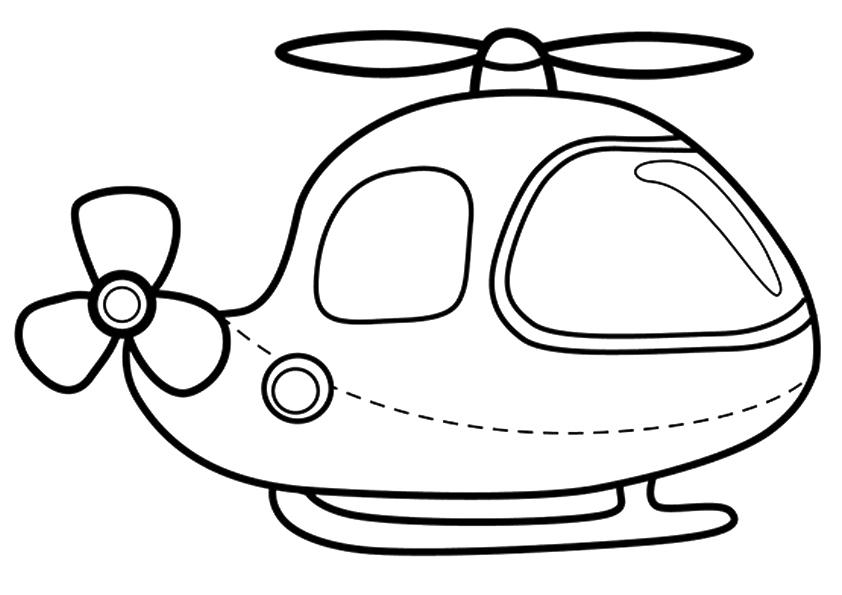 Tranh tô màu máy bay trực thăng đơn giản
