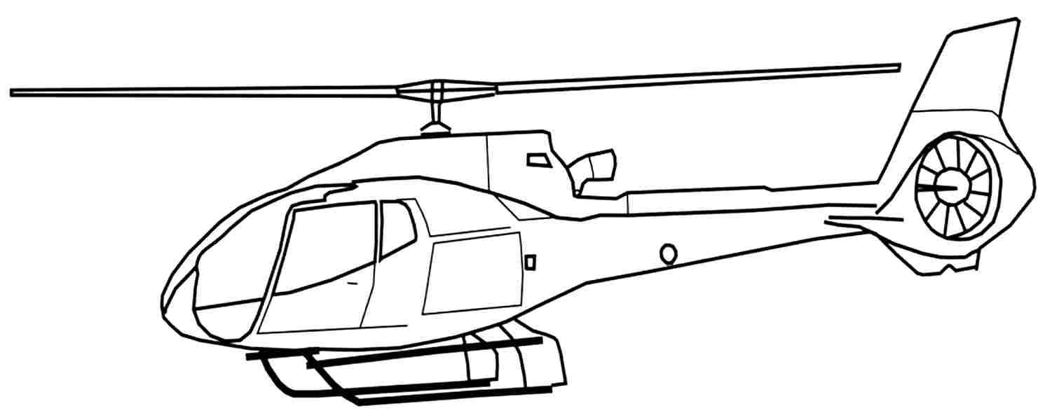 Tranh tô màu máy bay trực thăng quân đội