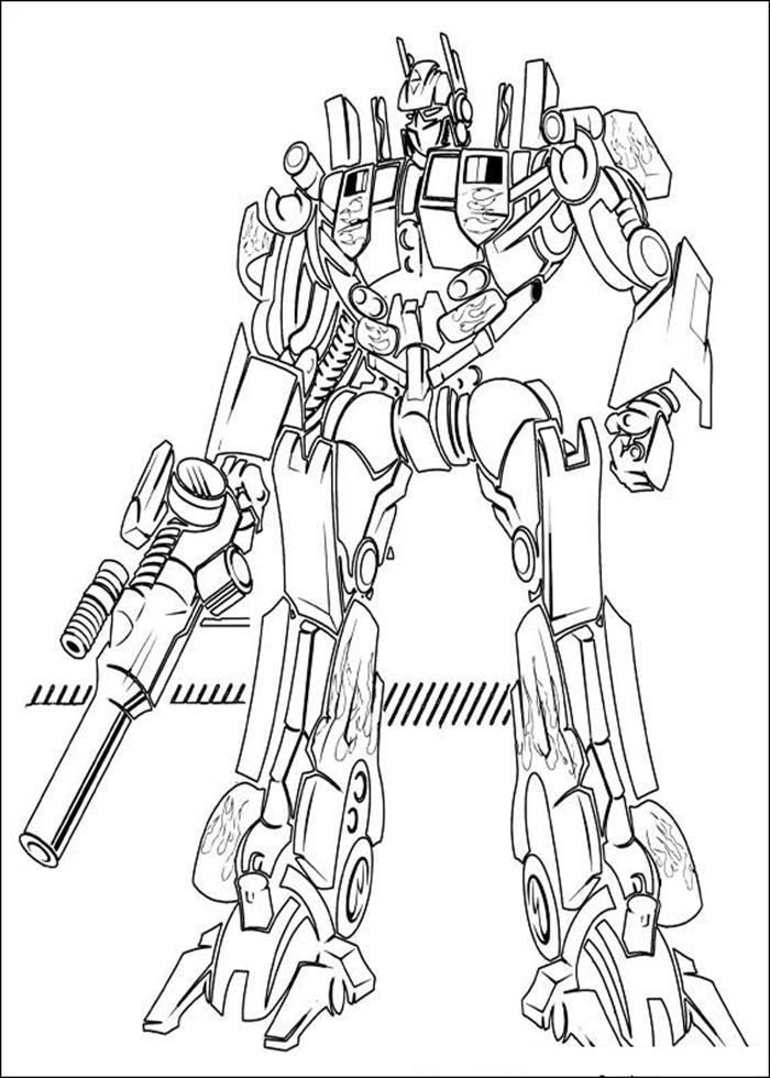 Tranh tô màu người máy Robot biến hình chất nhất