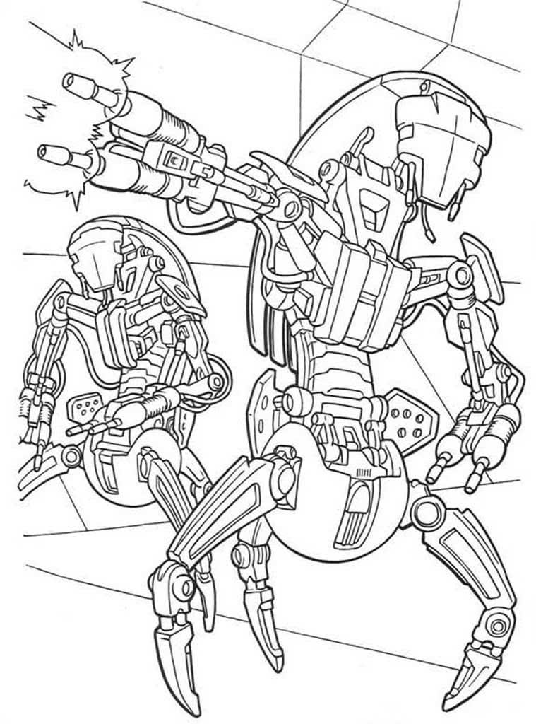 Tranh tô màu Robot biến hình cho bé trai