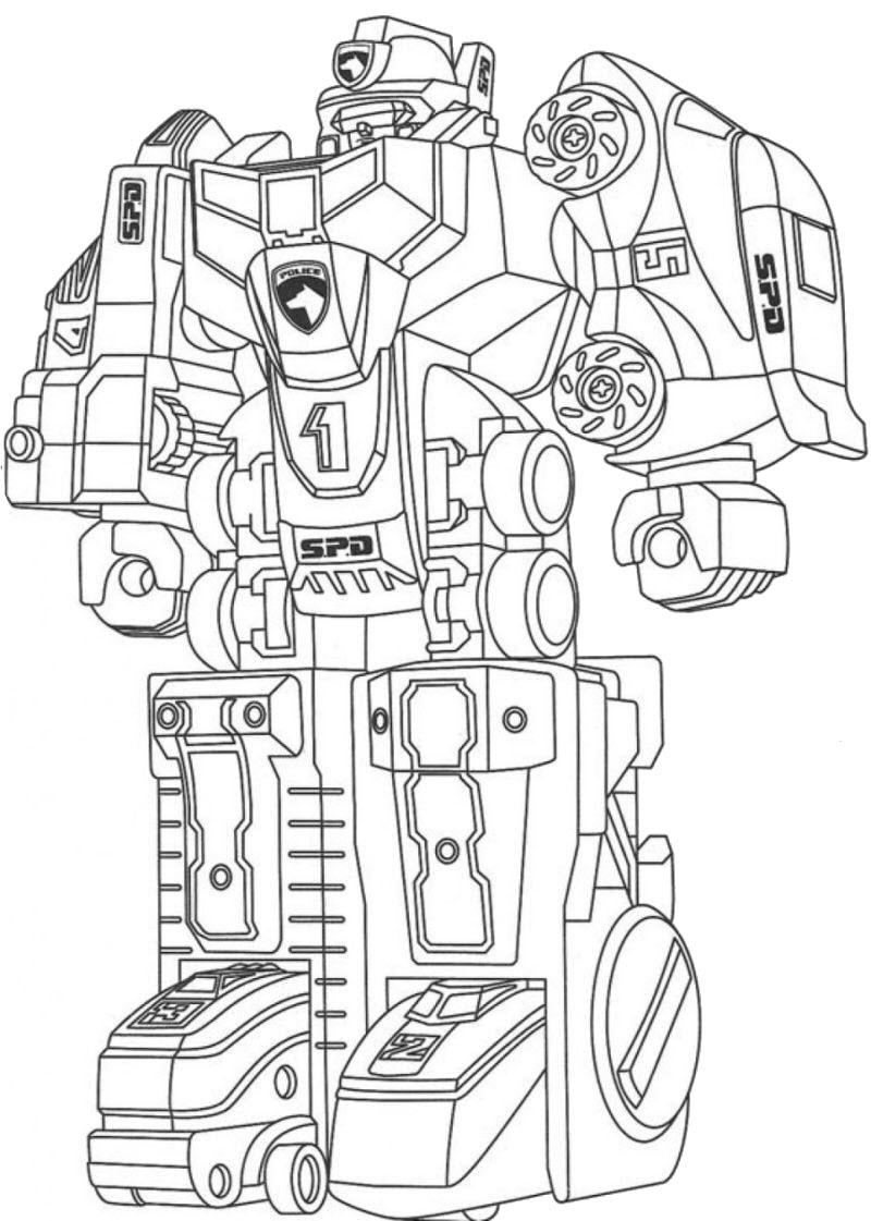 Tranh tô màu Robot biến hình cực ngầu