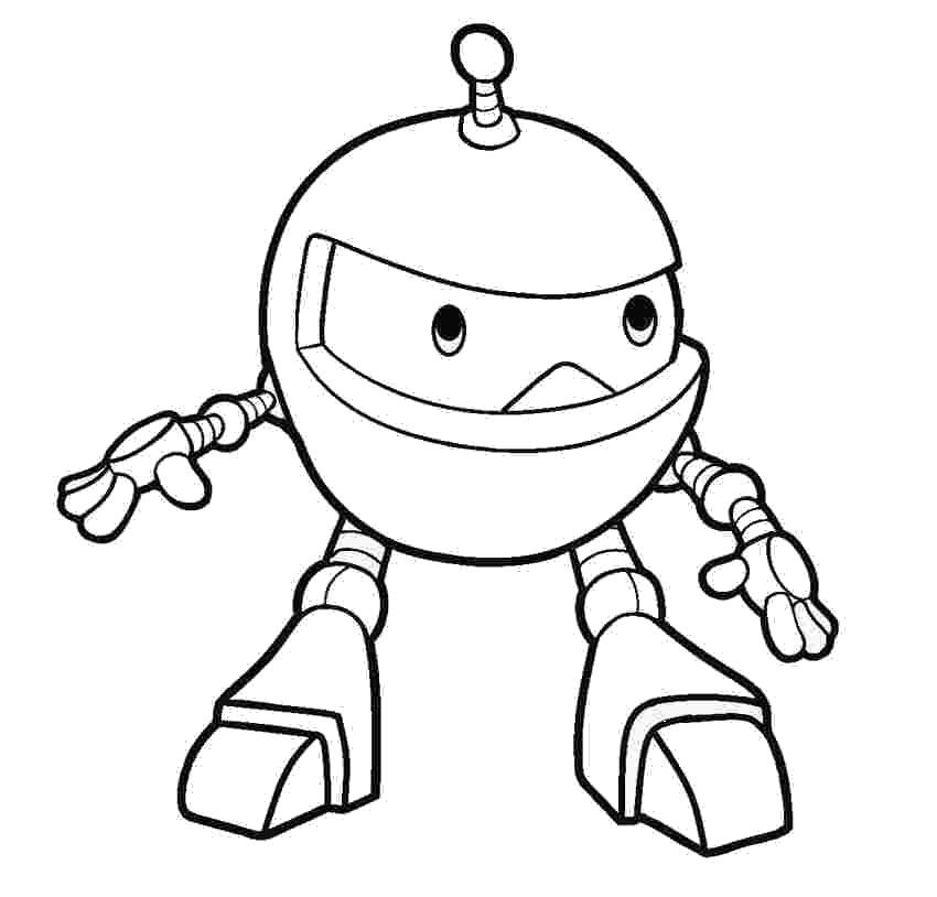 Tranh tô màu Robot biến hình đẹp, dễ thương